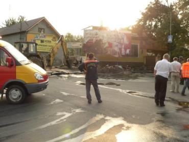 В Ужгороде взрыв газа был такой силы, что повылетали люки