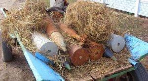 На автодороге Мукачево-Берегово селянин нашел в крапиве боеприпасы