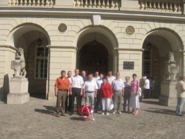 Урочистий маршрут соціалістів по місту Львів на 1 травня