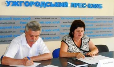 Мария Бадида на пресс-конференции в Ужгороде