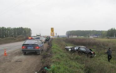 Водитель сумел выбраться из кювета и помчался в направлении Киева