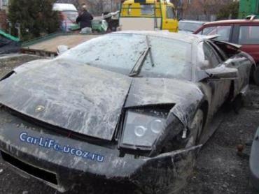 Lamborghini после ДТП в Польше