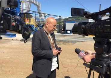 Новий завод на Хустщині, вироблятиме 160 тонн асфальту на годину