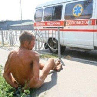 Голый мужчина потревожил киевлян