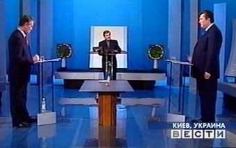 Ющенко згідно з результатами жеребкування почав першим виступ на дебатах