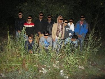 На українсько-словацькому кордоні була затримана велика група нелегалів.