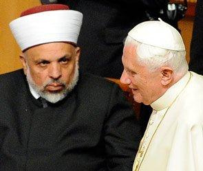 Шейх Тайсир ат-Тамими и Папа Римский Бенедикт XVI.