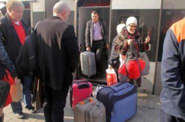 В западные области Украины переселяются беженцы из Крыма