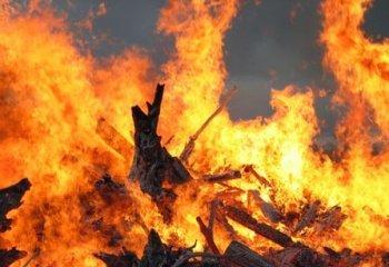 В Ужгородском районе из-за разряда молнии возник пожар