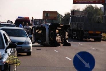 Под Киевом на Броварском шоссе столкнулись 5 машин
