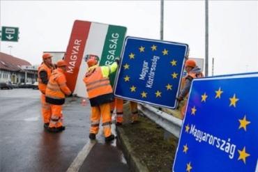 Венгрия все еще меняет указатели на своих границах