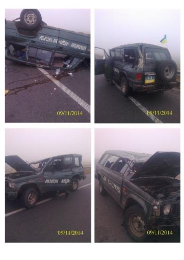 Ужгородские волонтеры батальона «Айдар» попали в крупную аварию около Ровно