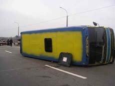 "Пассажирский автобус ""Москва–Самара"" опрокинулся на трассе"