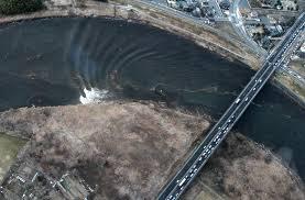 На видео зафиксировано цунами в одной из рек Японии