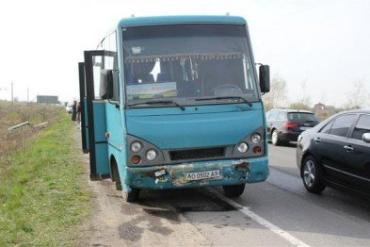 В результате аварии один из водителей получил телесные повреждения