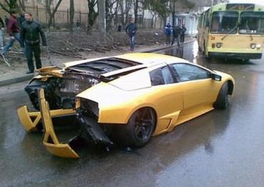 В Ставрополе произошло ДТП с участием Lamborghini Murcielago