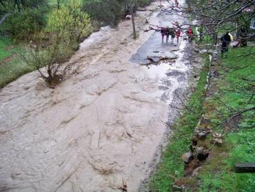 В Свалявском районе прошел мощный ливень и сход селевых потоков