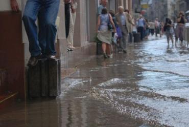 Уровень воды в некоторых местах Львова превышал 0,5 метра!