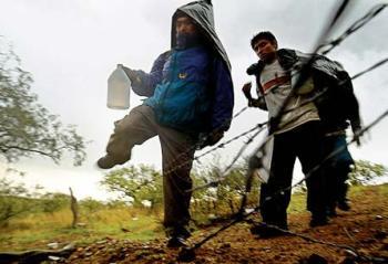 На Закарпатье менты нашли сомалийцев у самой границы