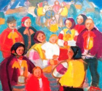 В Ужгороді Андрій Коцка чимало малював просто біля будинку