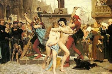 За измену женщину с любовником бросали в реку или сажали на кол