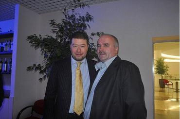 Сенатор Томіо Окамура та Василь Джуган