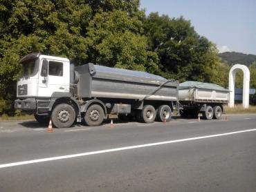 Вага вантажівки сягала майже 60 тон, при дозволених 24 тони