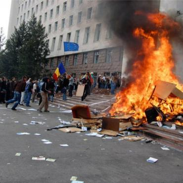 Массовые акции протеста в Молдавии
