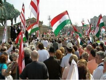 Акции протеста в Будапеште
