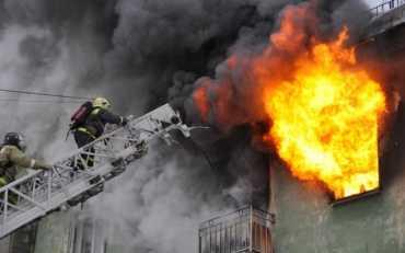 В Киеве произошел пожар в общежитии для переселенцев