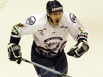 Чемпион Словакии по хоккею Ладислав Скурко