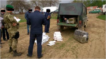 В задержанном авто находилось 4510 пачек сигарет без акцизных марок