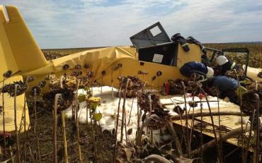На Хмельниччині впав літак