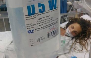 В реанимацию местного госпиталя в попала 29-летняя Юля Миронова из Мукачево