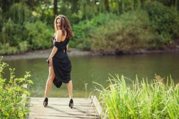 Таня в образе распутной героини эротического фильма «50 оттенков серого»