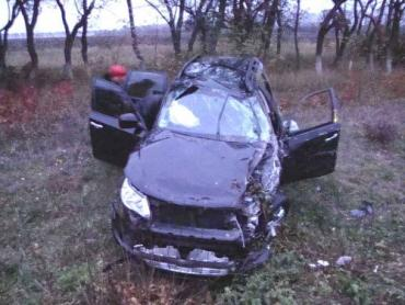 На Харьковщине столкнулись Mazda, Subaru и Daewoo-Sens