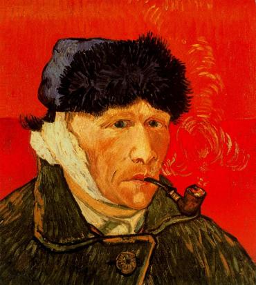 Ухо Ван Гога, отрезанное им в припадке безумия было подобрано местным аптекарем