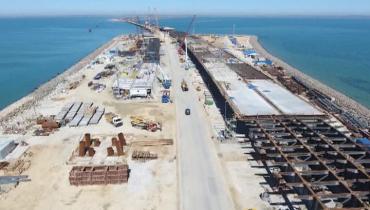 Половина всех опор Крымского моста построена