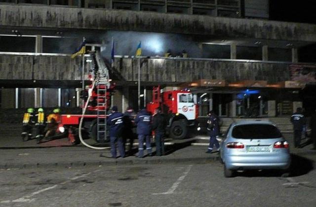Пожар в помещении ресторана отеля