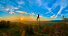 Закарпатье. закат солнца. фото