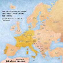 В Украине в 7 РАЗ МЕНЬШЕ золота , чем в БЕЛОРУССИИ
